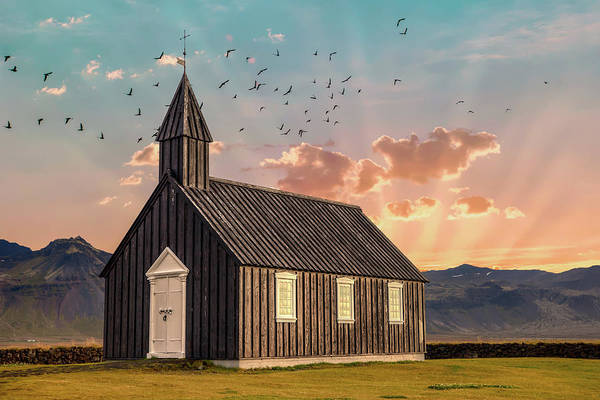 Photograph - Iceland Chapel by David Letts