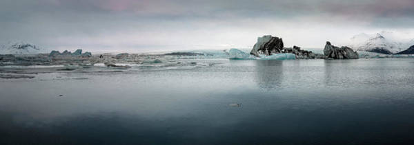 Photograph - Iceland Glacial Lagoon Panorama by Joan Carroll