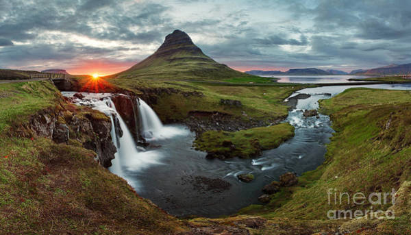 Wall Art - Photograph - Iceland Landscape Spring Panorama At by Ttstudio