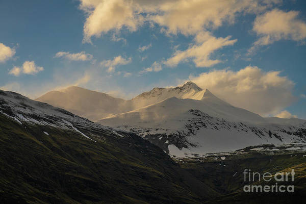 Wall Art - Photograph - Iceland Snow Dusted Peaks by Mike Reid