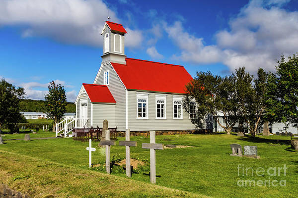 Photograph - Icelandic Church by Lyl Dil Creations