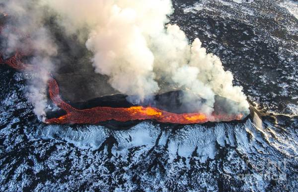 Wall Art - Photograph - Icelandic Volcano Eruption by Nathan Mortimer