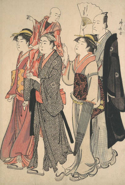 Relief - Ichikawa Danjuro V And His Family by Torii Kiyonaga