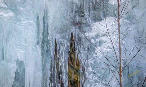 Digital Art - Icicles In Nature by Rusty R Smith