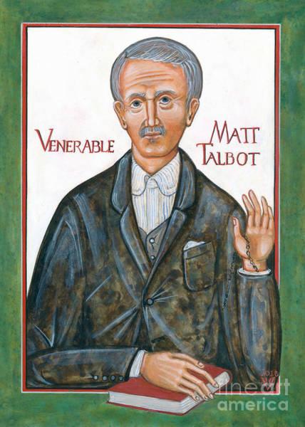 Alcoholism Painting - Icon Of Venerable Matt Talbot by Juliet Venter