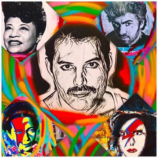 Wall Art - Photograph - Iconic Music Stars by Funkpix Photo Hunter