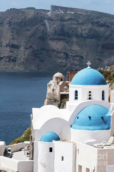 Photograph - Iconic Santorini Church In Greece by Didier Marti
