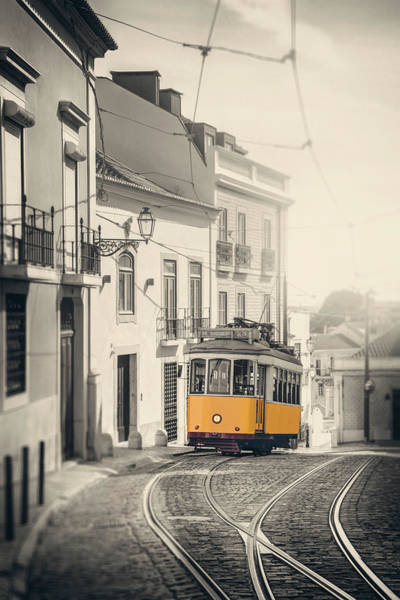 Wall Art - Photograph - Iconic Yellow Tram 28 Lisbon Portugal by Carol Japp
