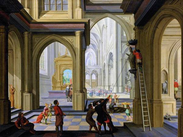 Wall Art - Painting - Iconoclasm In A Church - Digital Remastered Edition by Dirck van Delen