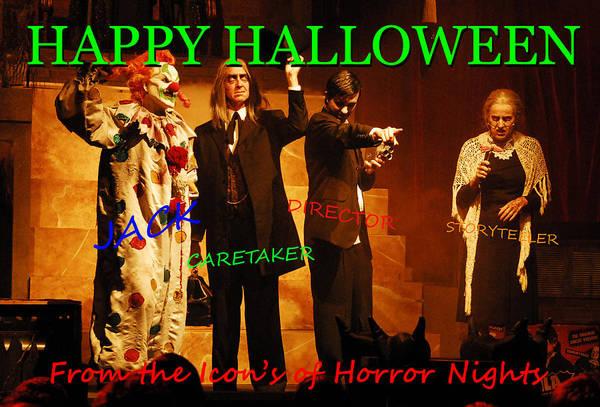 Wall Art - Photograph - Icon's Of Halloween Horror Nights Custom Card by David Lee Thompson