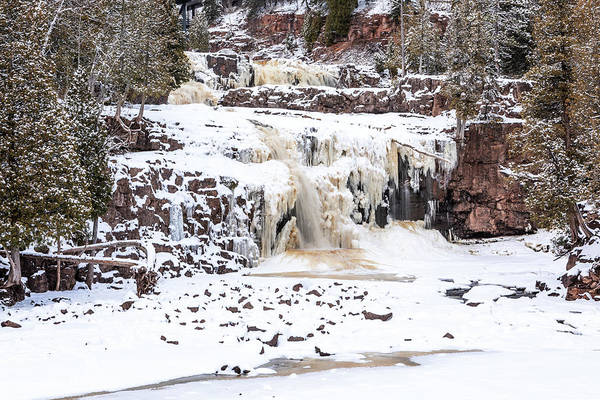 Photograph - Icy Gooseberry Falls by Susan Rissi Tregoning