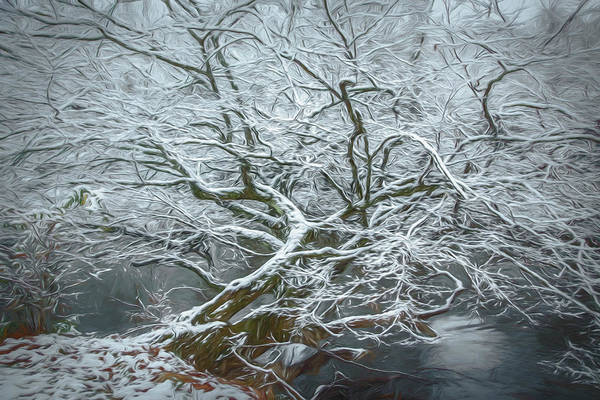 Photograph - Icy Inspiration In Watercolors by Debra and Dave Vanderlaan
