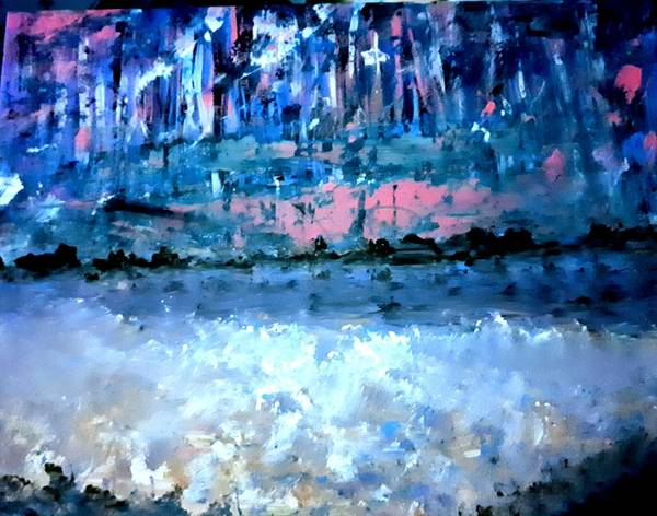Painting - Icy Lake by Nikki Dalton