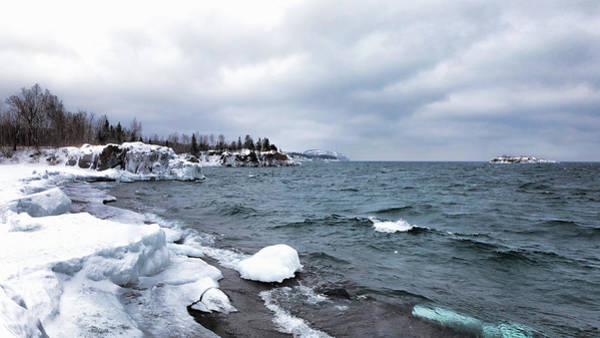 Photograph - Icy Minnesota North Shore by Susan Rissi Tregoning