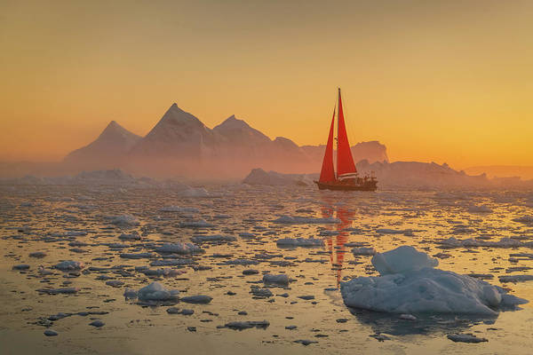 Photograph - Icy Pyramids by Michael Blanchette