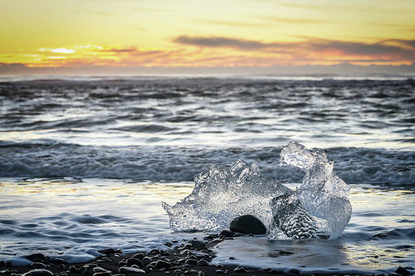 Photograph - Icy Sunrise And Surf by Framing Places