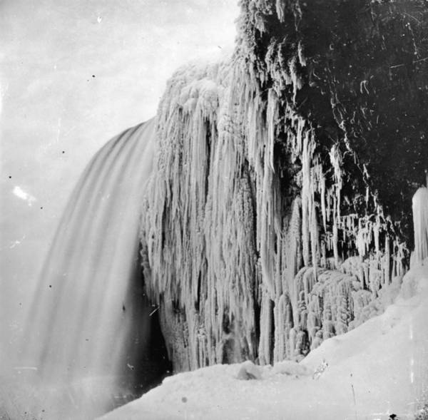 Hanging Rock Photograph - Icy Veil by William England