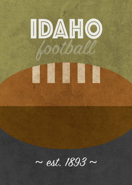 Wall Art - Mixed Media - Idaho College Football Team Vintage Retro Poster by Design Turnpike