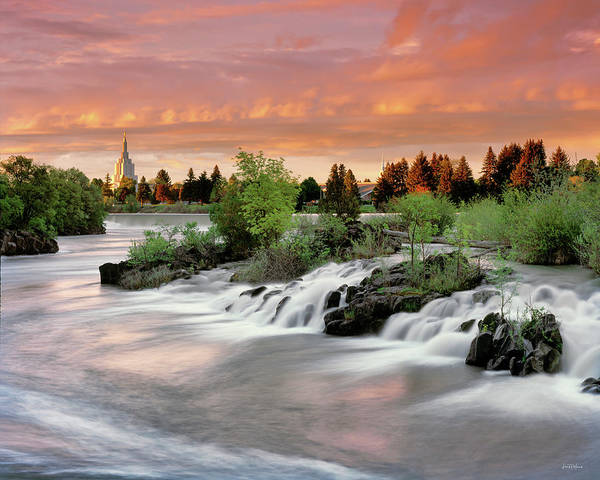 Photograph - Idaho Falls by Leland D Howard