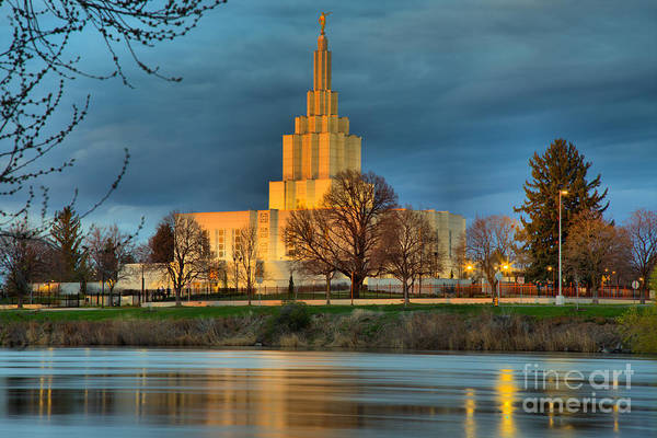 Photograph - Idaho Falls Temple by Adam Jewell