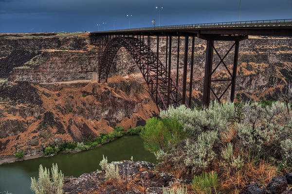 Photograph - Idaho - Perrine Memorial Bridge 001 by Lance Vaughn