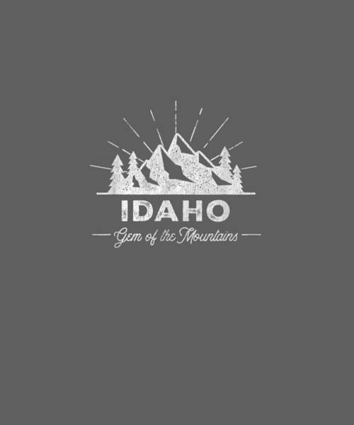 Wall Art - Digital Art - Idaho T Shirt Vintage Hiking Retro Tee Design by Unique Tees