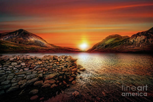Photograph - Idwal Lake Sunset by Adrian Evans