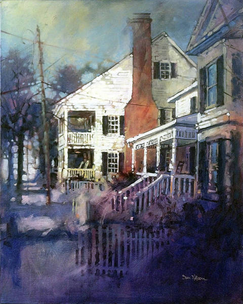 Wall Art - Painting - If Houses Could Talk by Dan Nelson