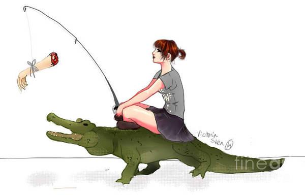 Fishing Pole Digital Art - If We Ran The Zoo... by Victoria Gonzalez
