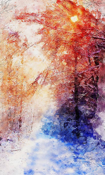 Painting - If Winter Comes - 02 by Andrea Mazzocchetti