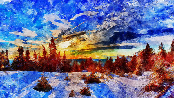 Painting - If Winter Comes - 03 by Andrea Mazzocchetti