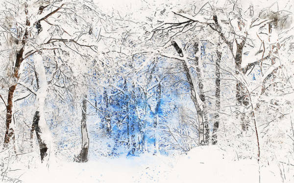 Painting - If Winter Comes - 06 by Andrea Mazzocchetti