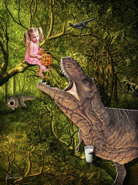 Photograph - If You Give A Dino A Cookie by Diana Haronis