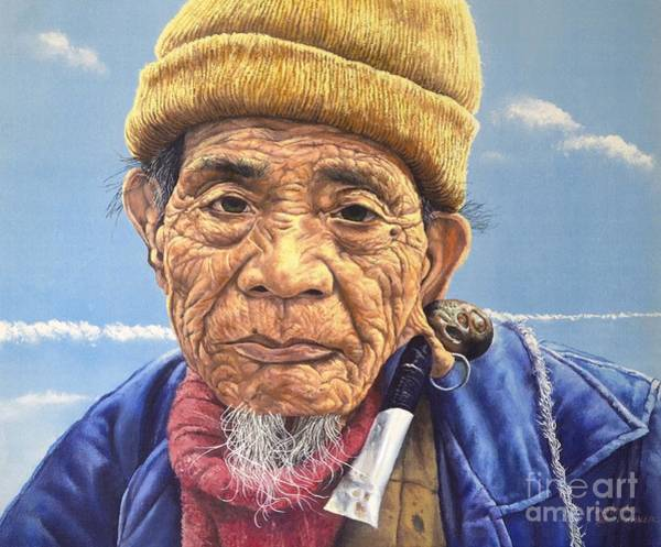 Painting - Ifugao Tribesman In Oil Painting by Christopher Shellhammer