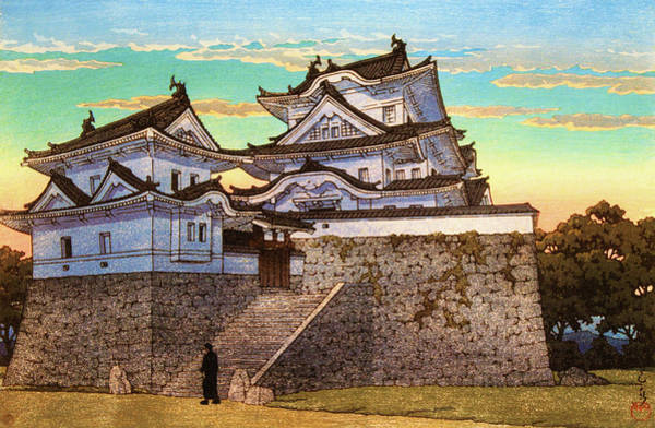 Wall Art - Painting - Iga Ueno Hakuho Castle - Digital Remastered Edition by Kawase Hasui