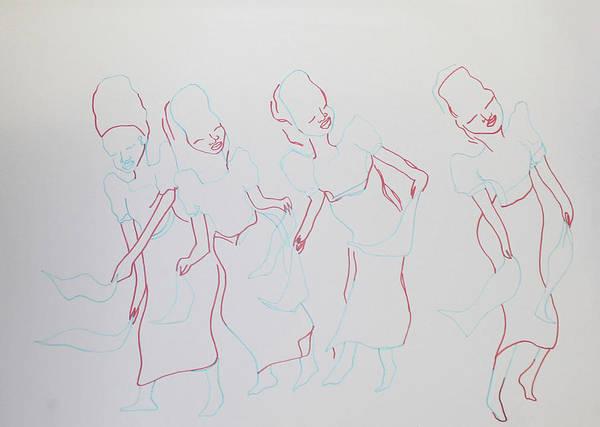 Painting - Igbo Traditonal Dance Nigeria by Gloria Ssali