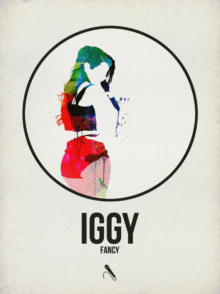 Hard Rock Wall Art - Digital Art - Iggy Azalea Watercolor by Naxart Studio