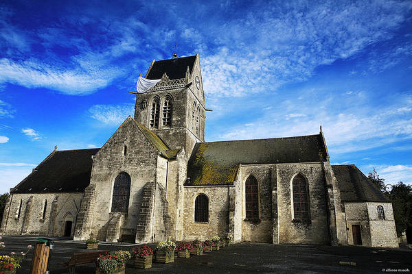 Physical Features Wall Art - Photograph - Iglesia Sainte-.mere-eglise by Alfonsomaseda