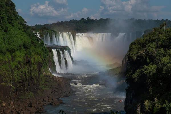 Iguazu Falls With A Rainbow Art Print