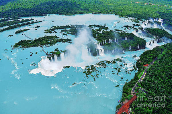 Famous People Photograph - Iguazu Waterfalls From Helicopter by Elena Odareeva