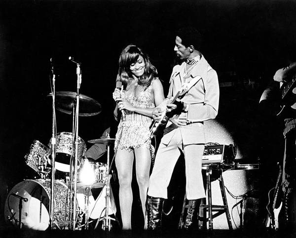 Photograph - Ike & Tina At The Greek by Michael Ochs Archives