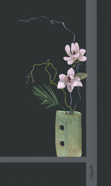 Digital Art - Ikebana With Magnolia Blossoms by Spadecaller