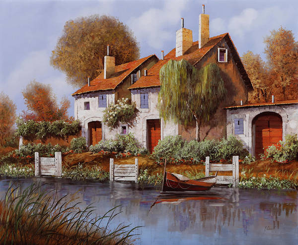 Small Boat Wall Art - Painting - Il Salice by Guido Borelli