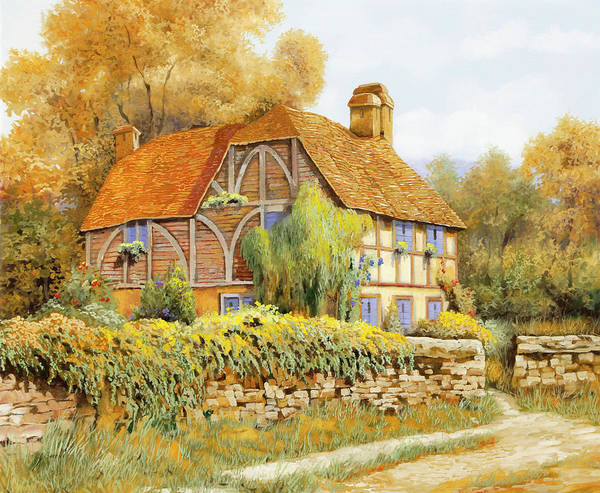 Wall Art - Painting - Il Salice Inglese by Guido Borelli