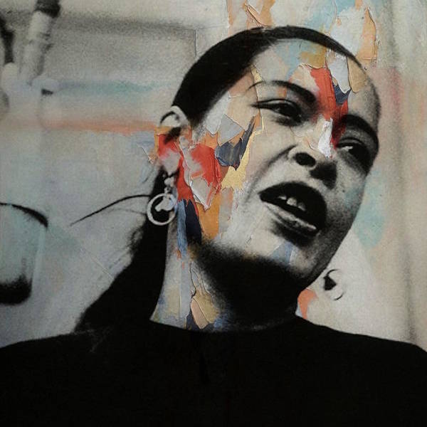 Wall Art - Mixed Media - I'll Be Seeing You - Billie Holiday  by Paul Lovering