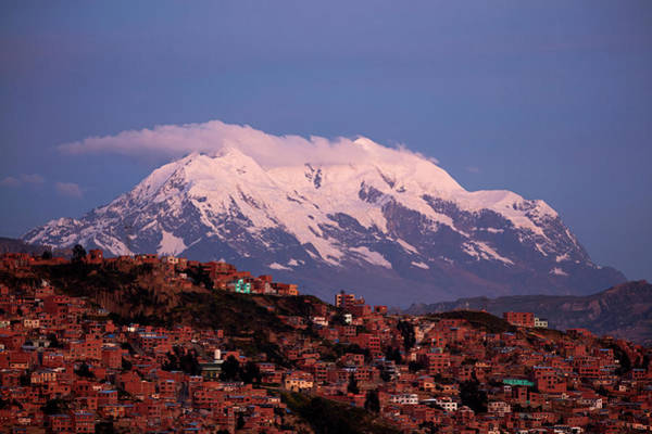 Senora Photograph - Illimani (6438m/21,122ft by David Wall