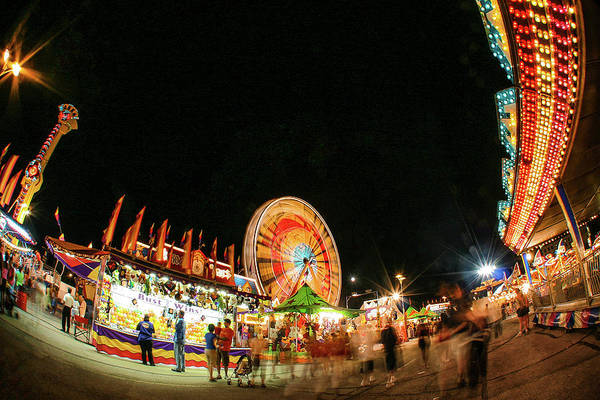 County Fair Wall Art - Photograph - Illuminated Midway by Todd Klassy
