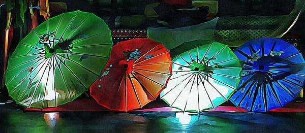 Photograph - Illuminated Oriental Parasols by Dorothy Berry-Lound