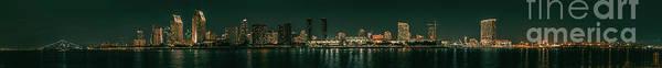 Wall Art - Photograph - Illuminated Skyline At Night, New York by Ivan Jimenez