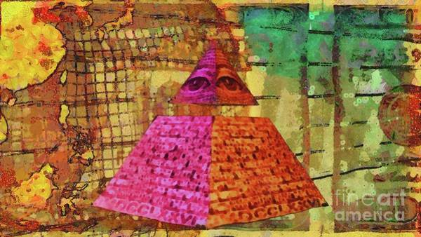 Wall Art - Painting - Illuminati by Mary Bassett